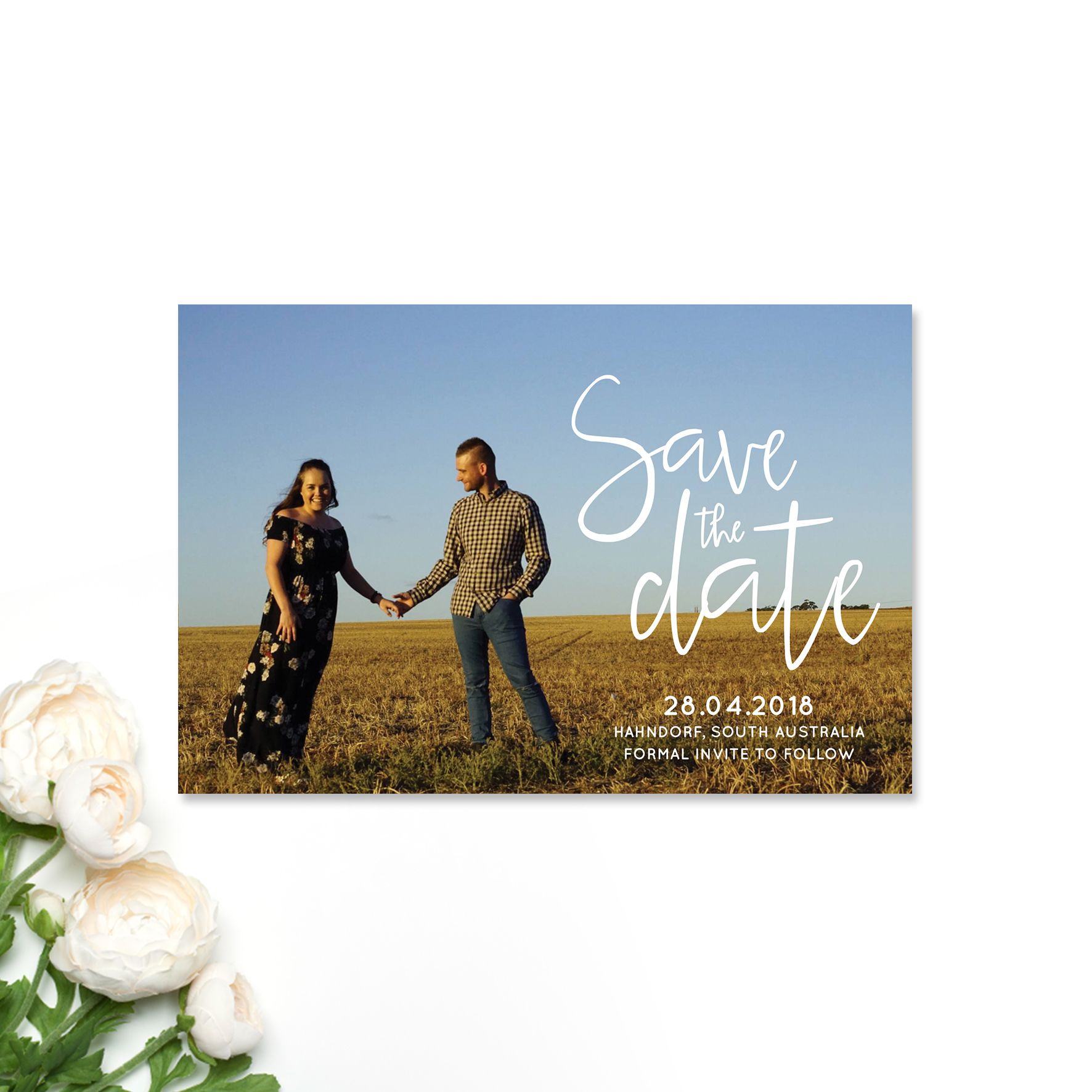 Courtney + Nick Save the Date Card