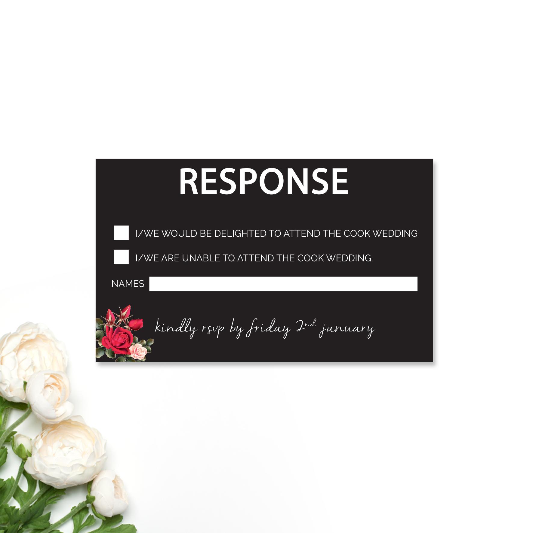 Louise + Simon Reply Card