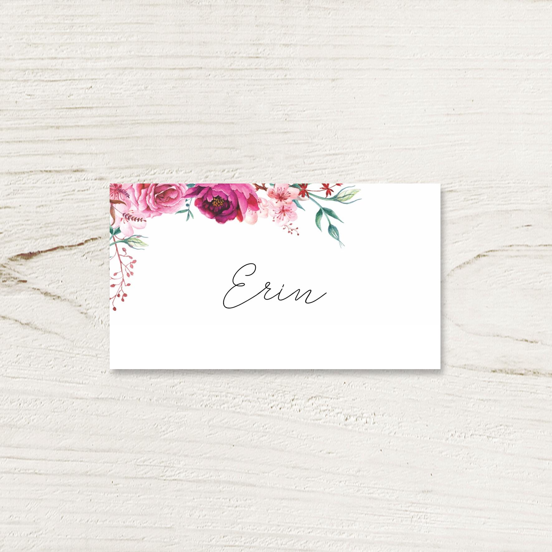 Fuchsia Place Card