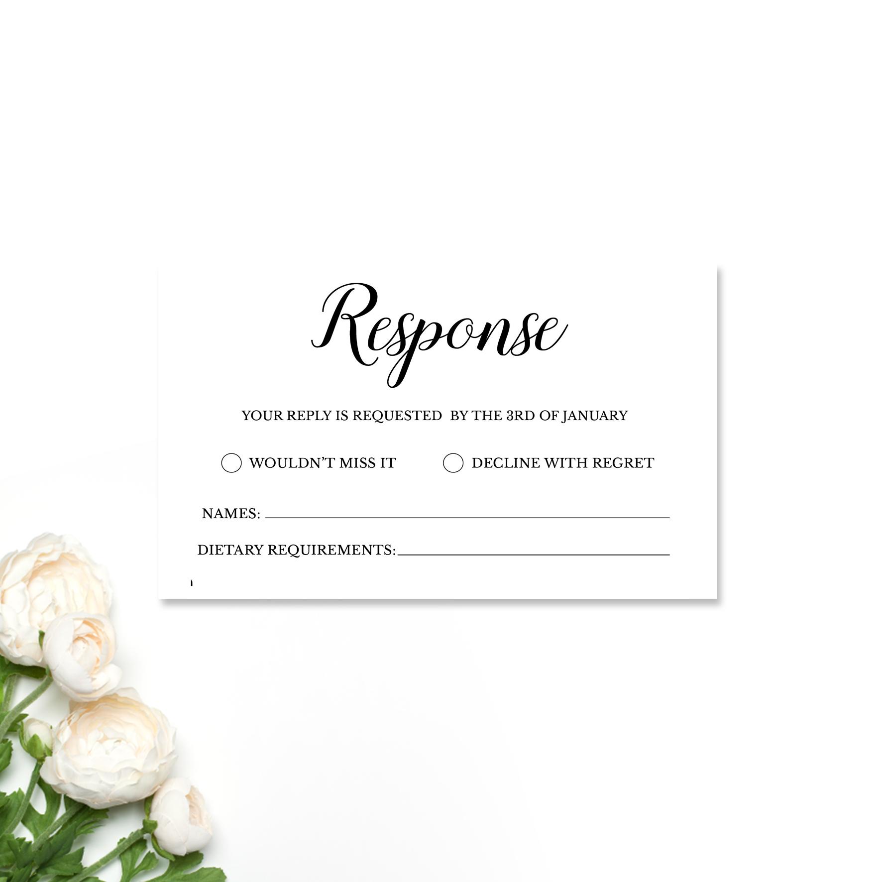 Alexia + Simon Reply Card