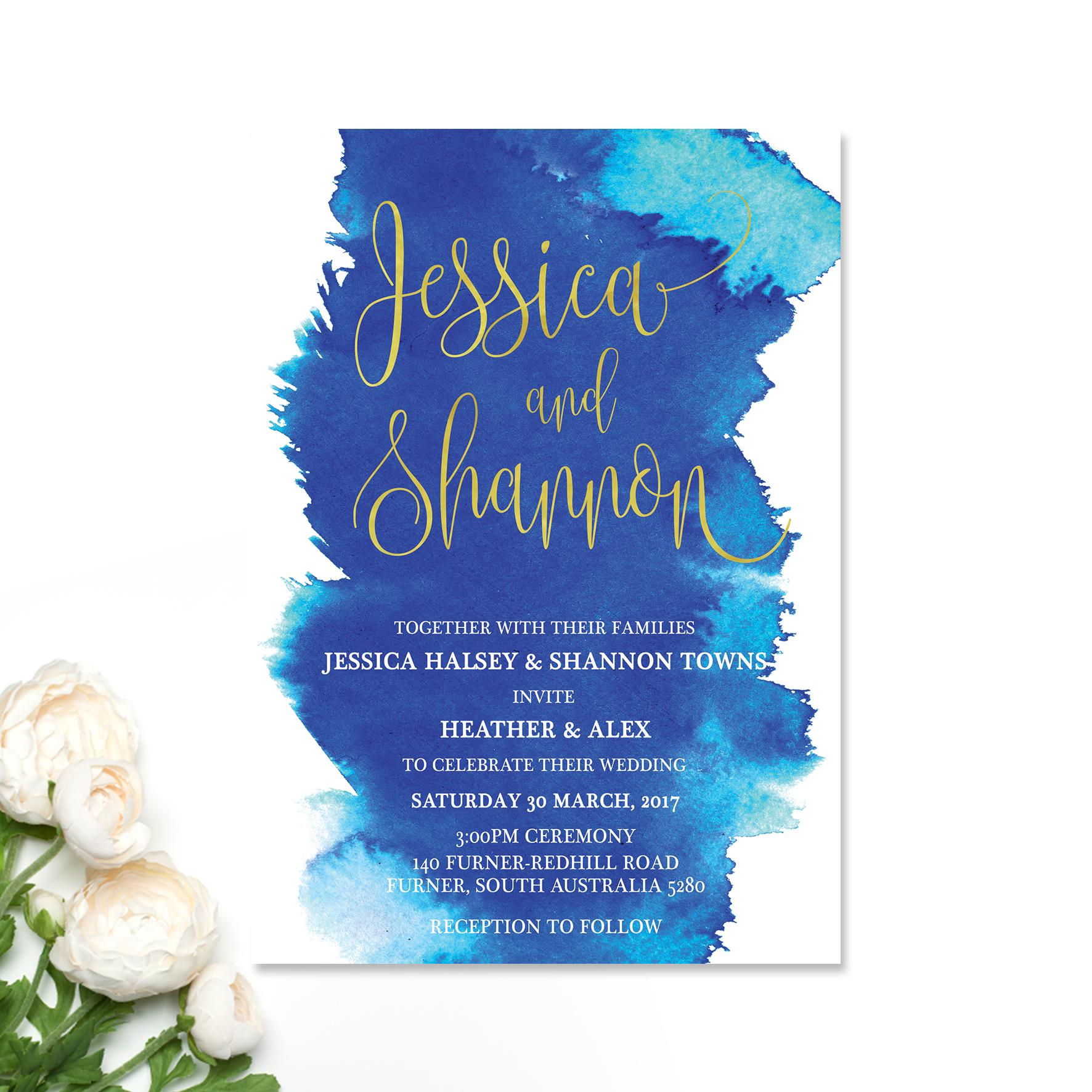 Jessica + Shannon Wedding Invitation