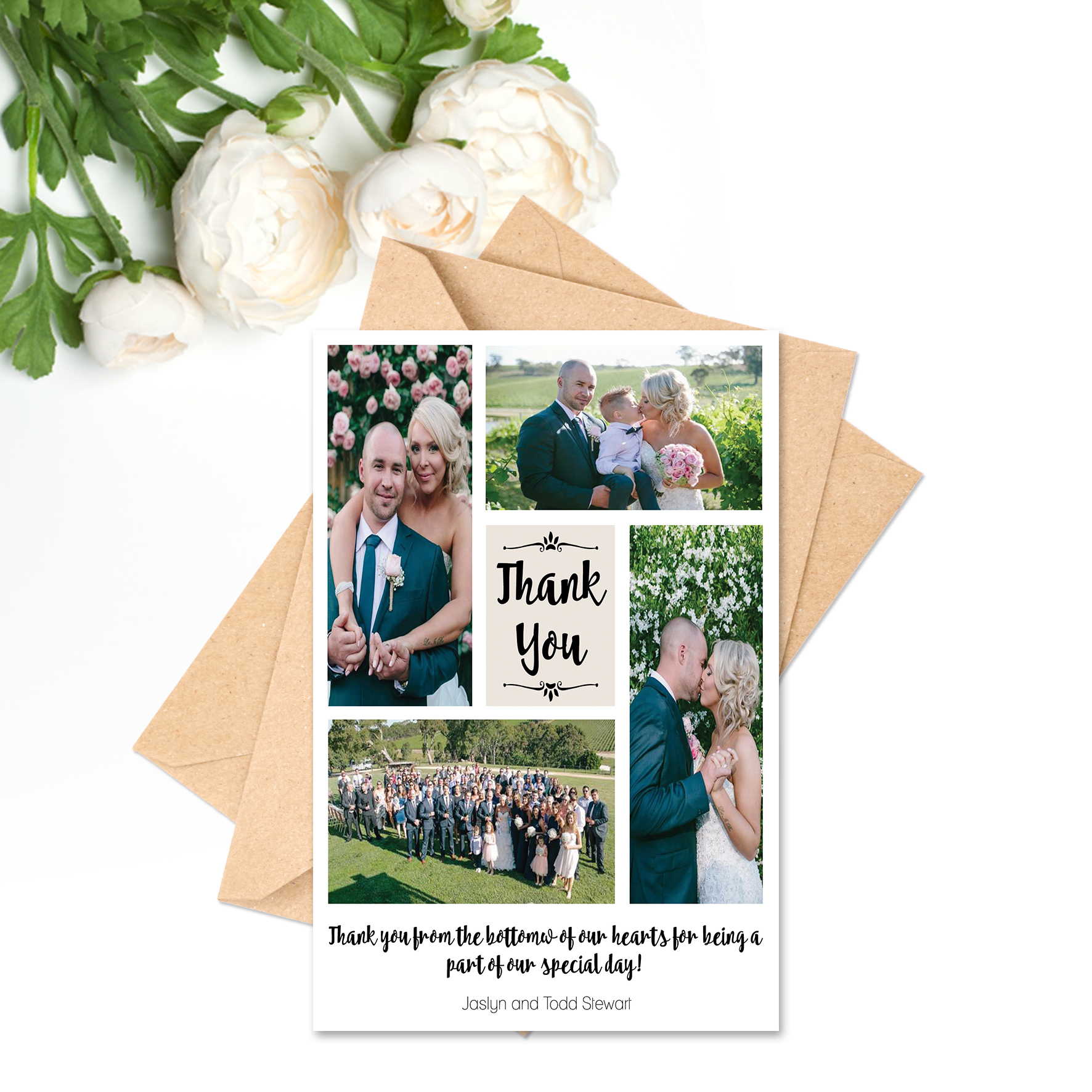 Jaslyn + Todd Thank You Card