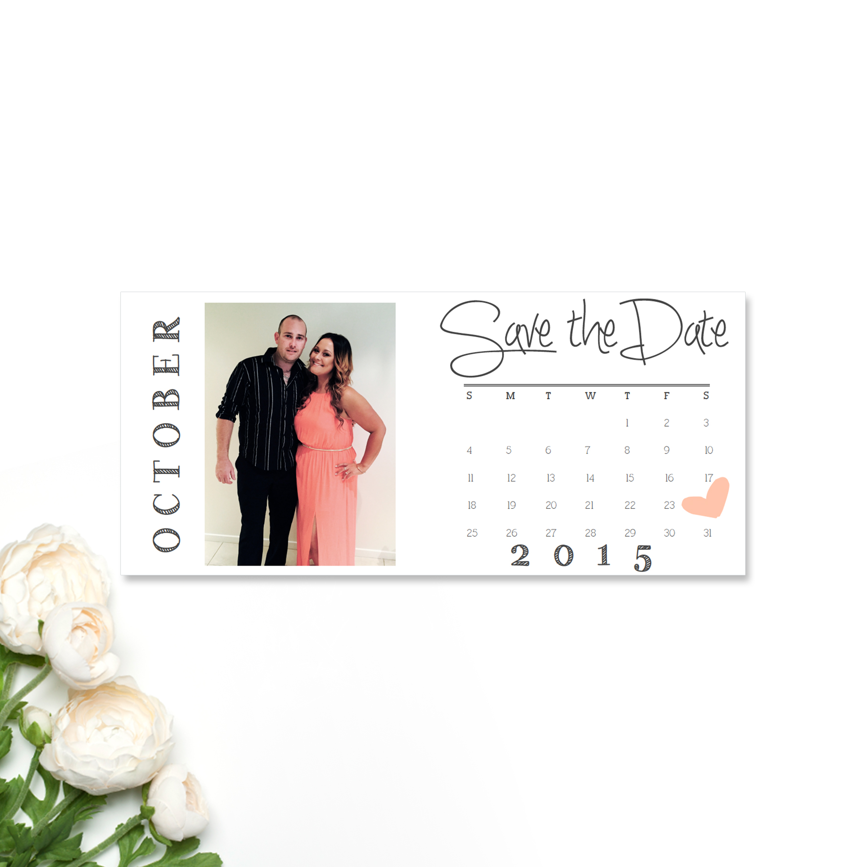 Jess + Chris Save the Date Card