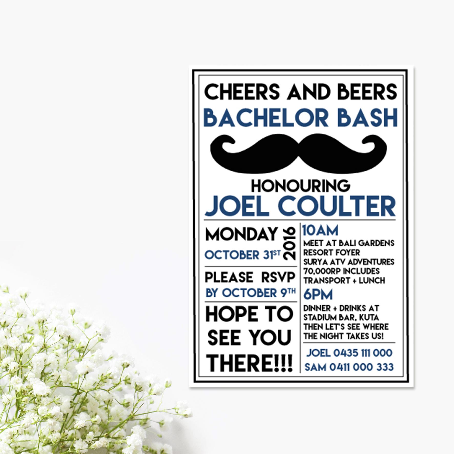 Cheers + Beers Bucks Invitation