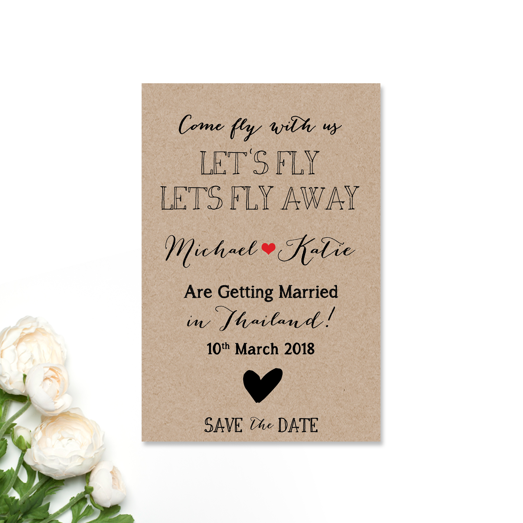 Michael + Katie Save the Date Card