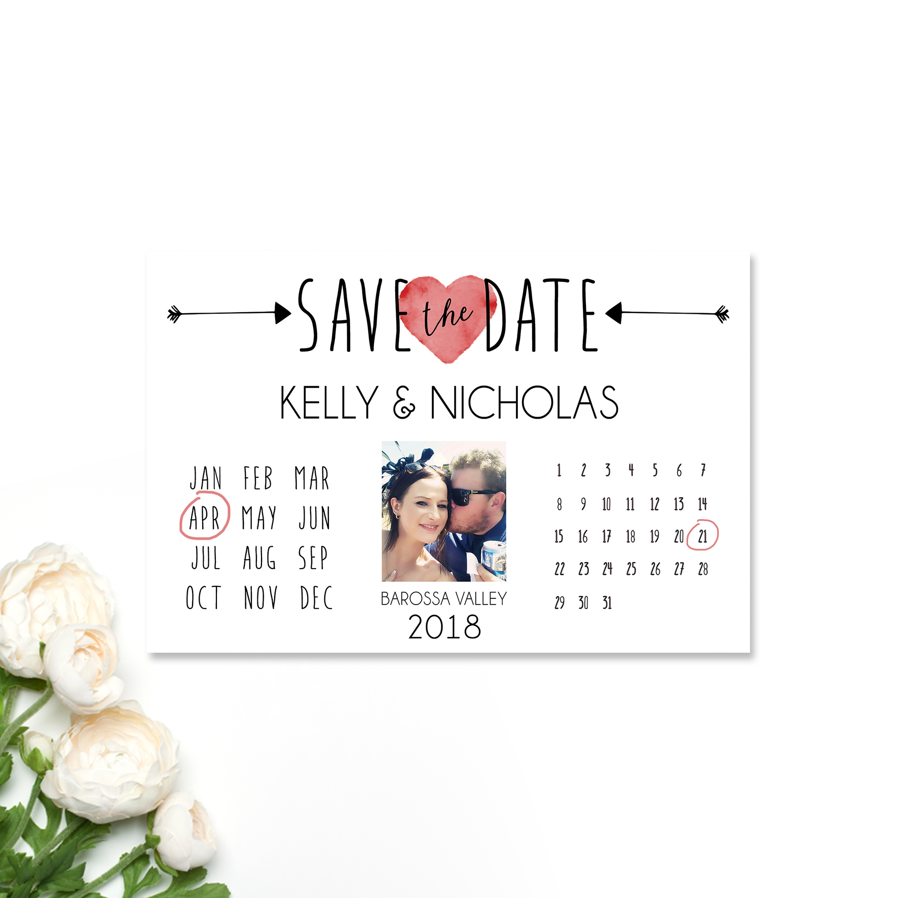 Kelly + Nicholas Save the Date Card