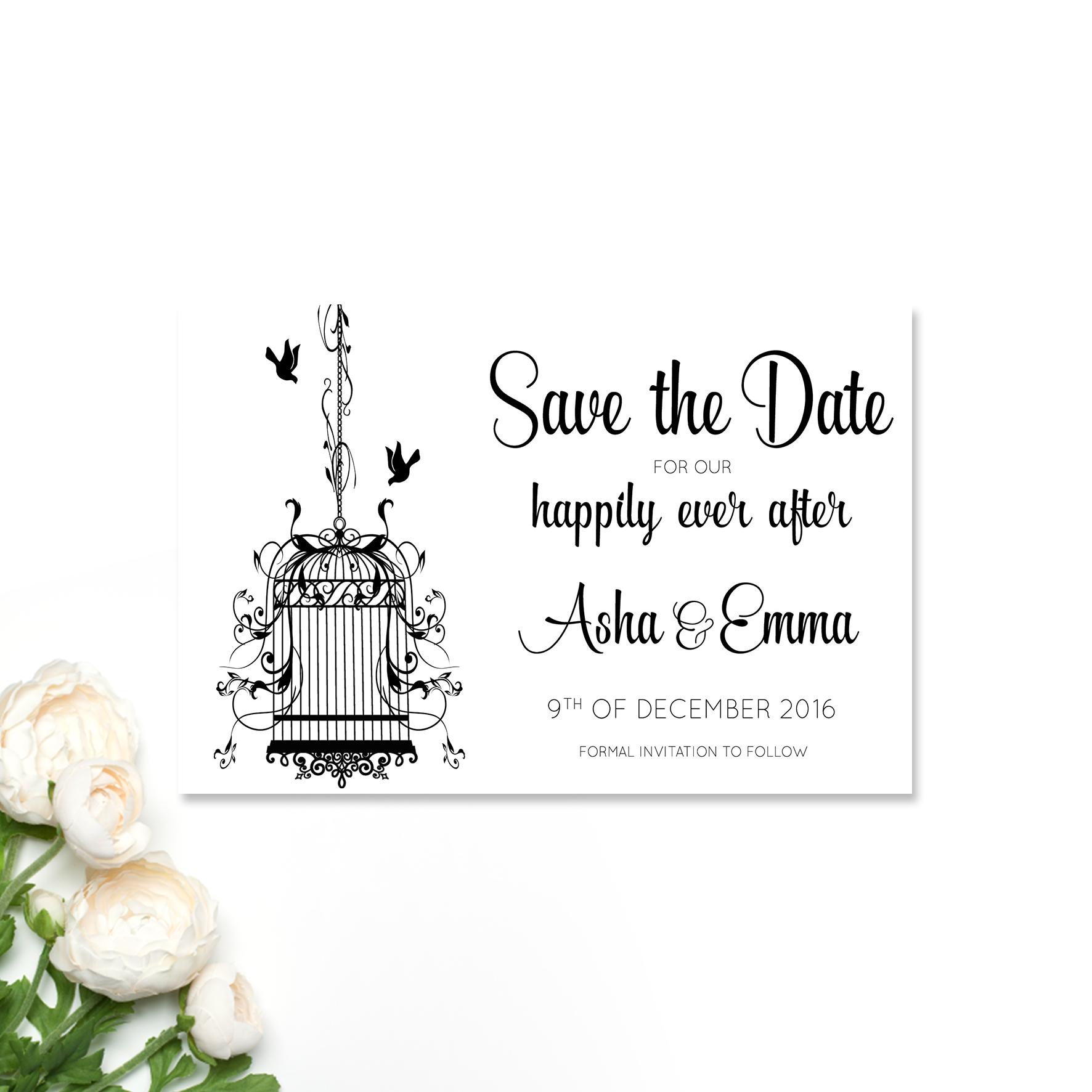 Asha + Emma Save the Date Card
