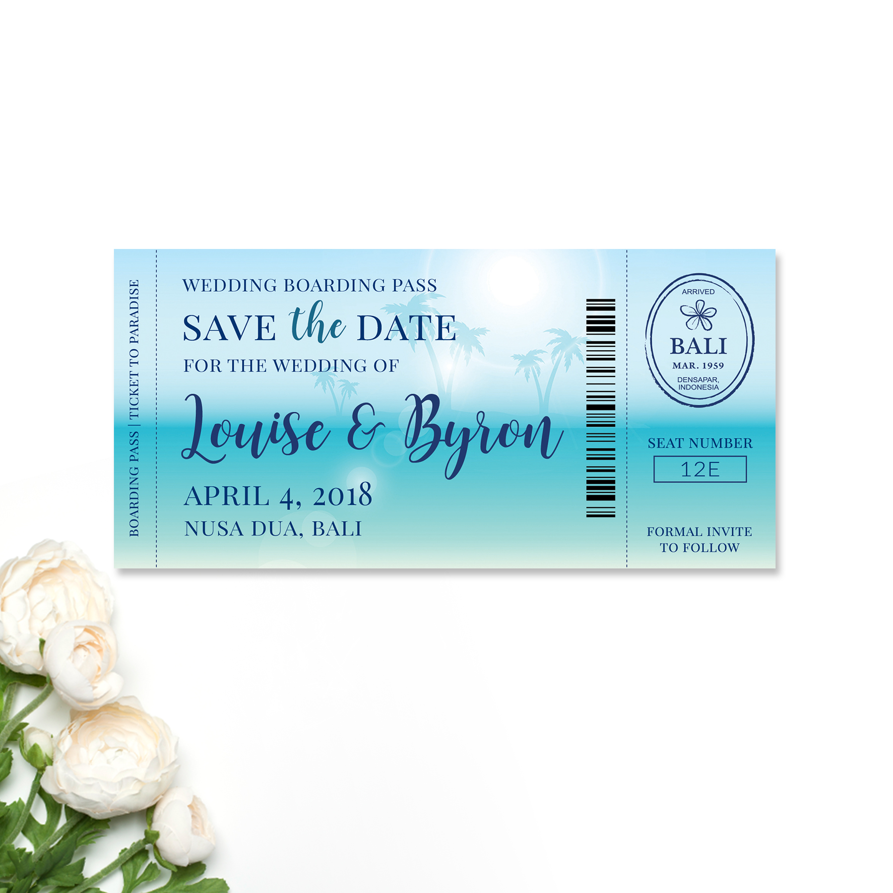 Louise + Bryan Save the Date Card