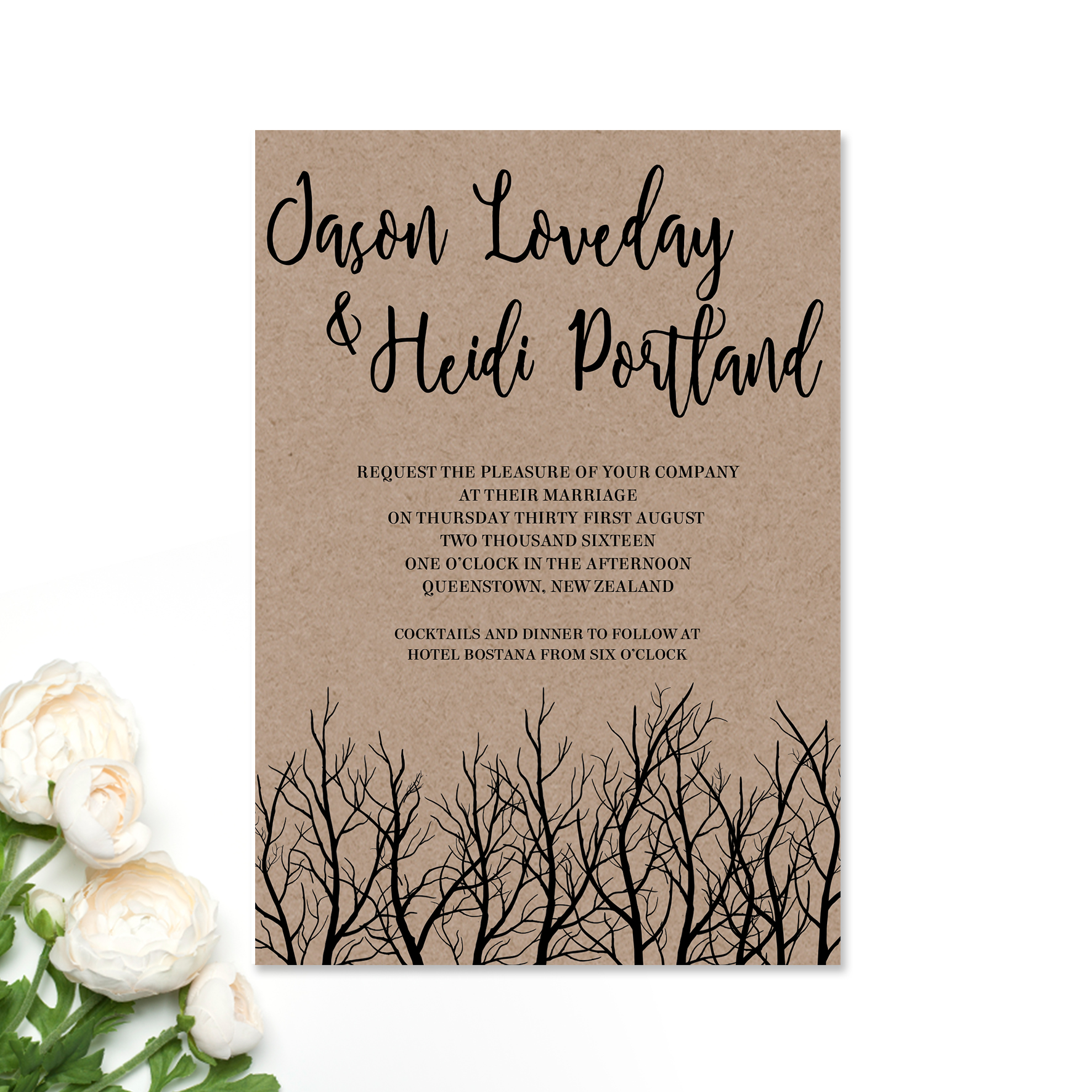 Jason + Heidi Wedding Invitation