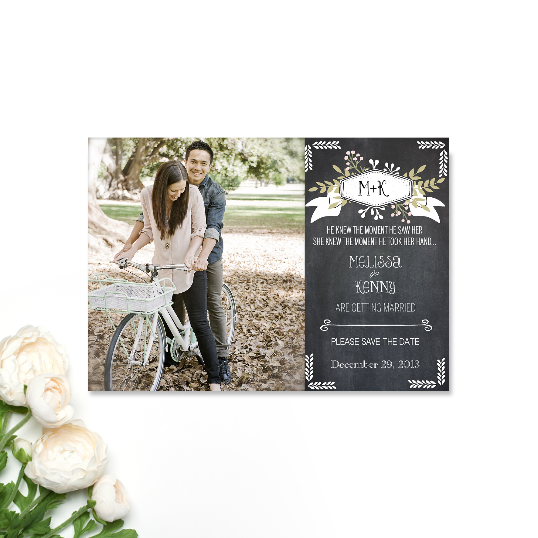 Mel + Kenny Save the Date Card