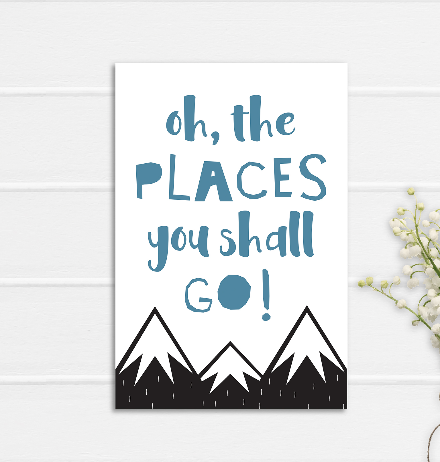 Oh The Places Print Poster