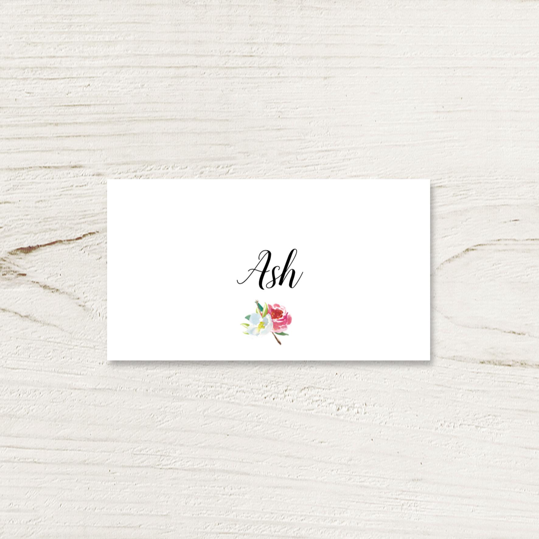 Pastel Floral Place Card