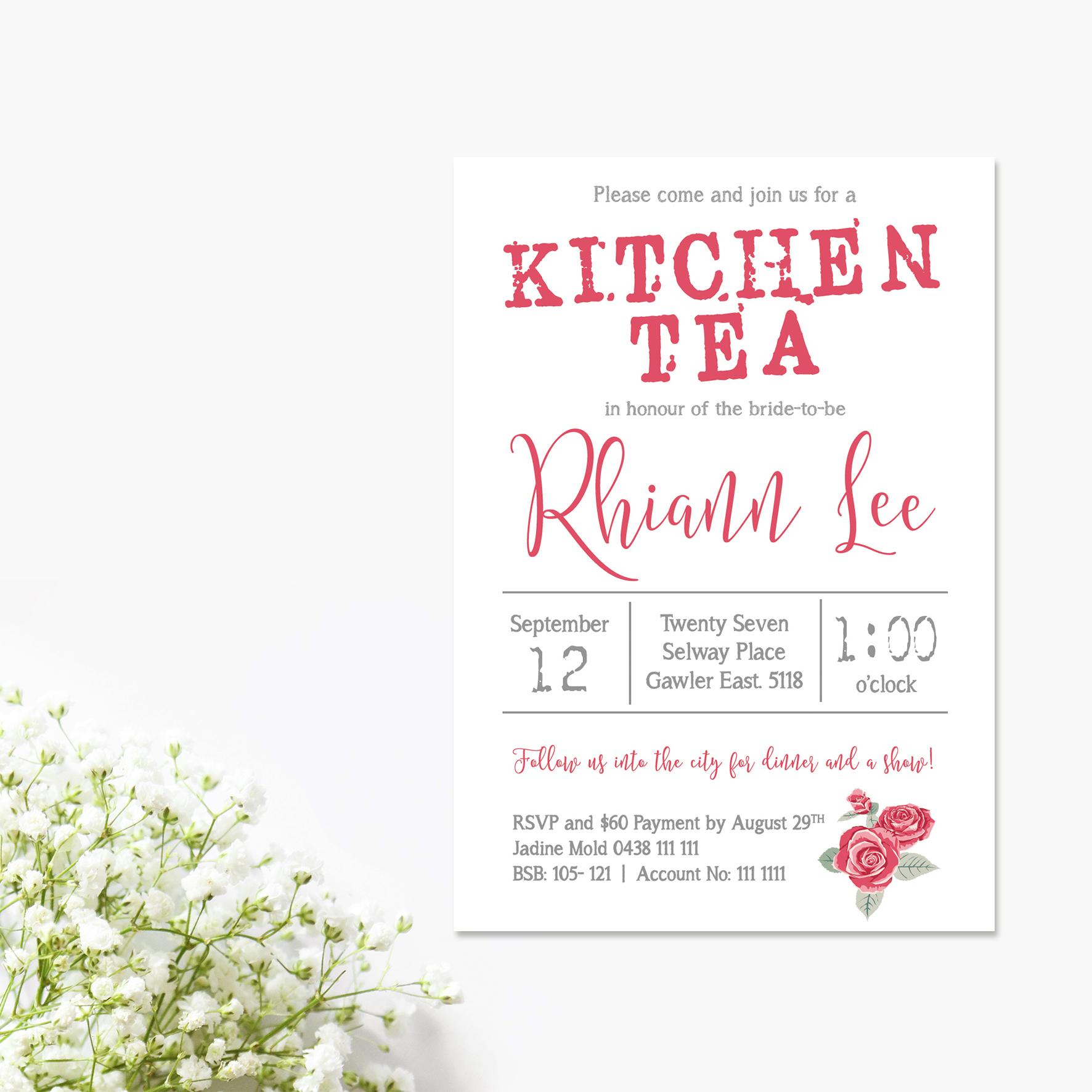 Kitchen Tea Bridal Shower