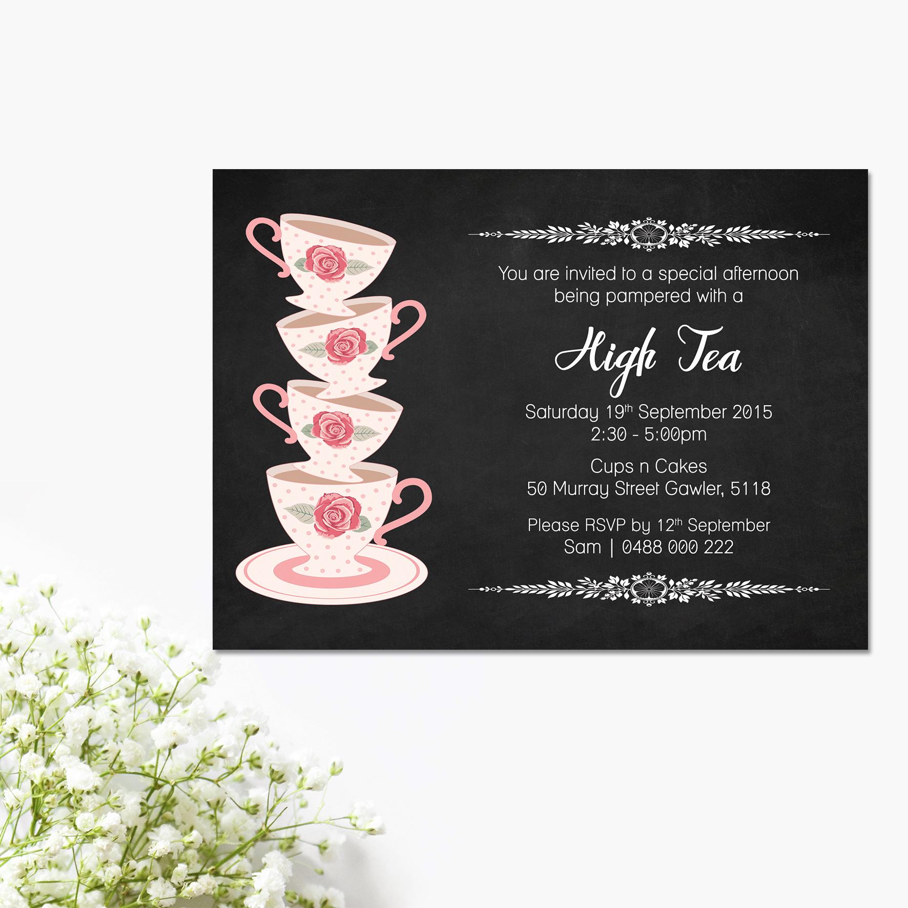 Pastel Pink High Tea Bridal Shower