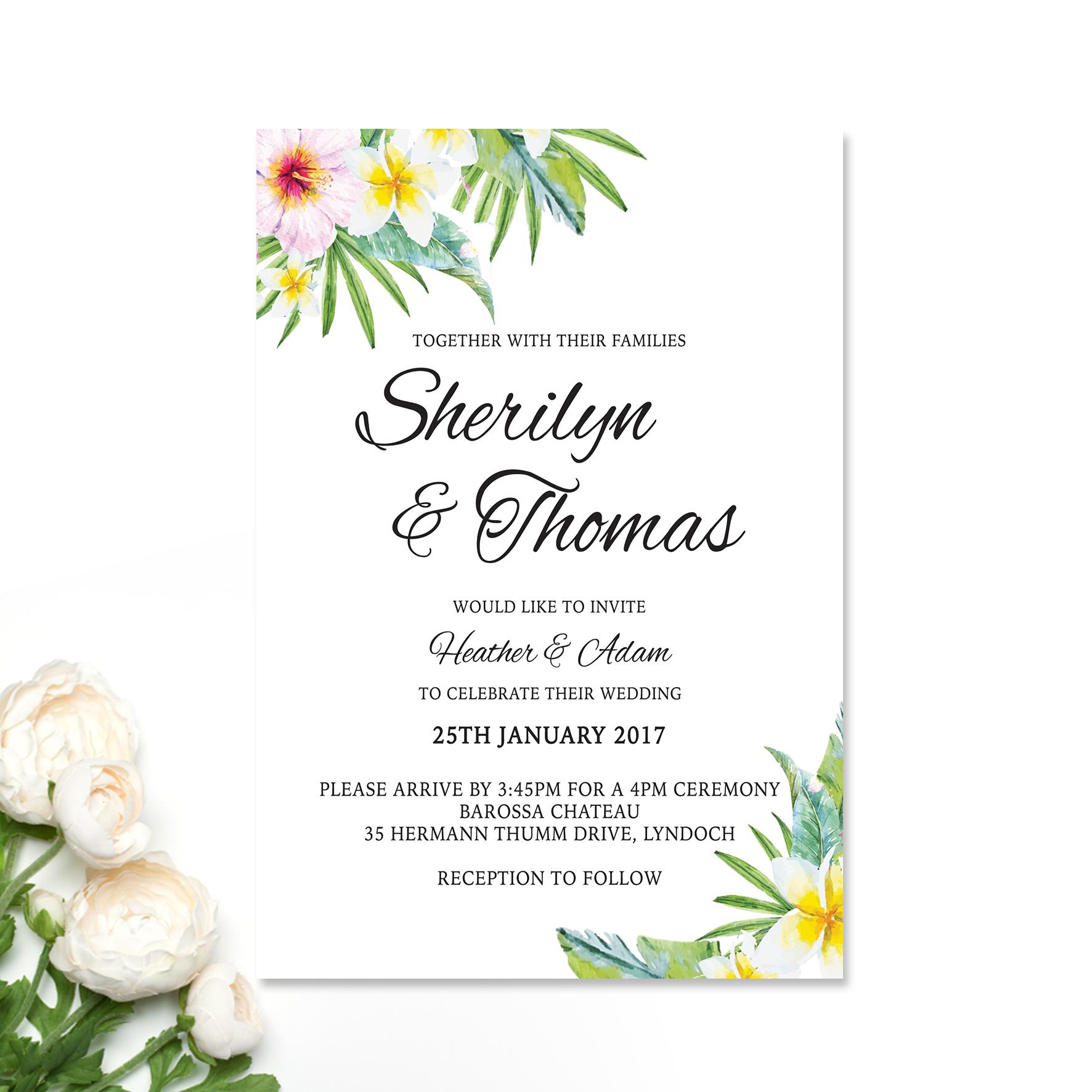 Sherilyn + Thomas Wedding Invitation