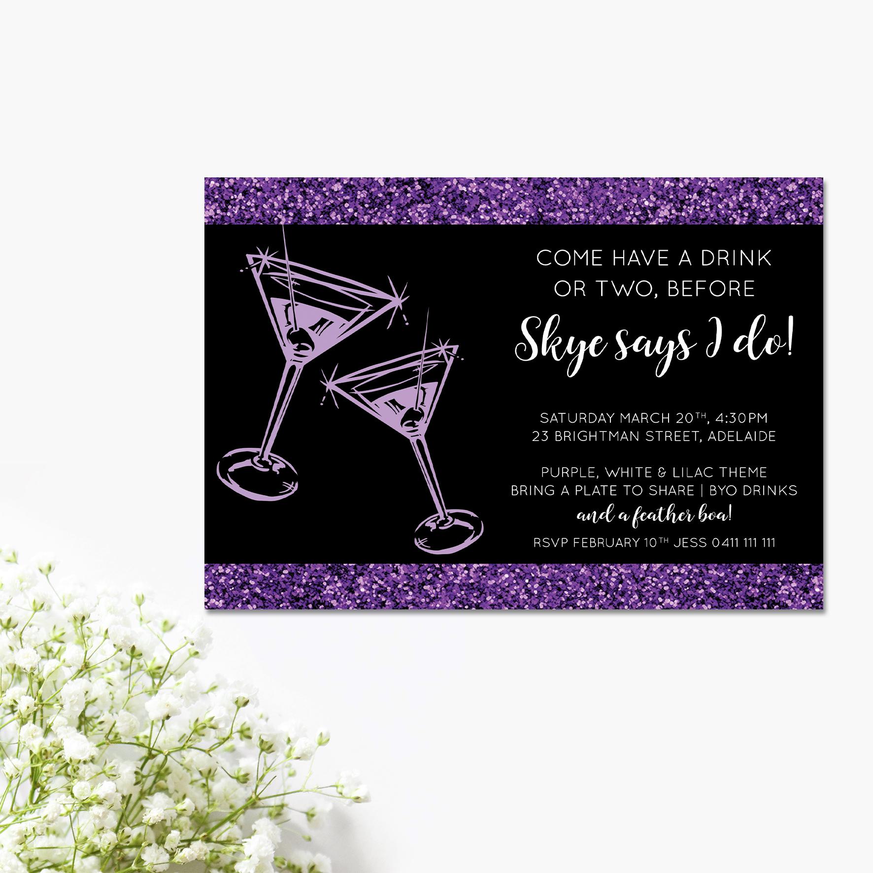 Lilac Glitz Bridal Shower