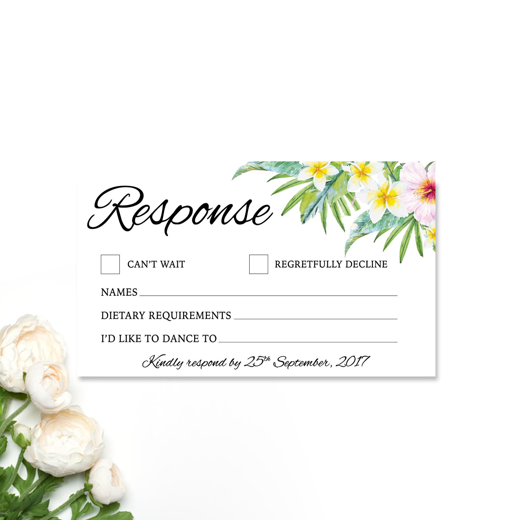 Sherilyn + Thomas Reply Card