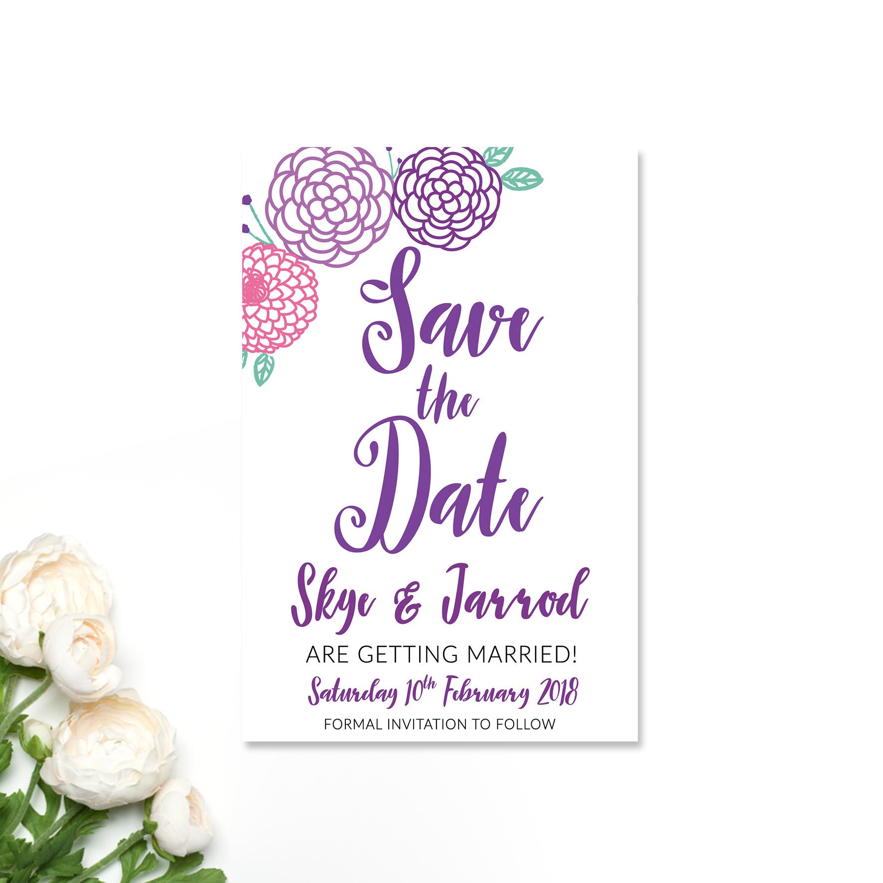 Skye + Jarrod Save the Date Card