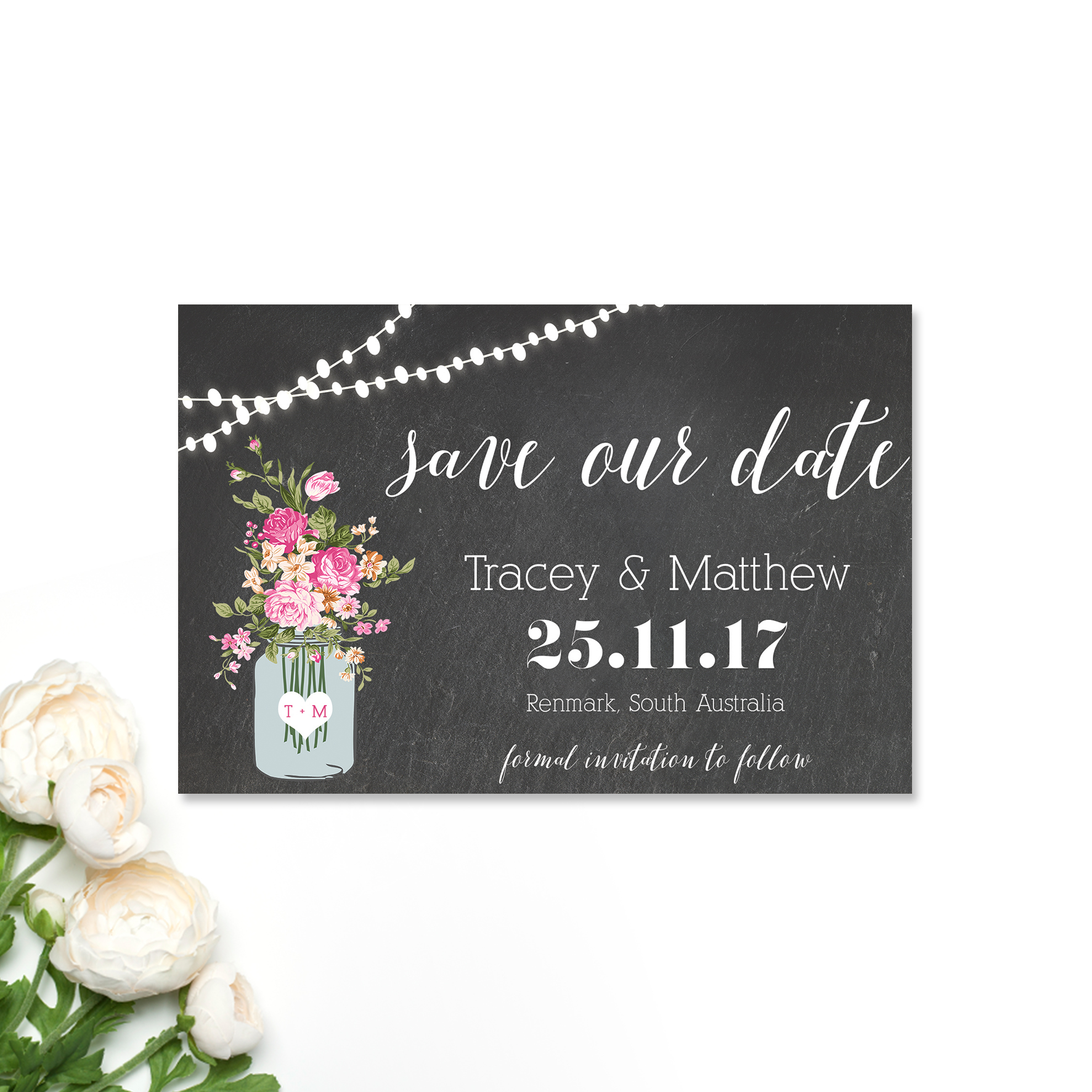 Tracey + Matthew Save the Date Card