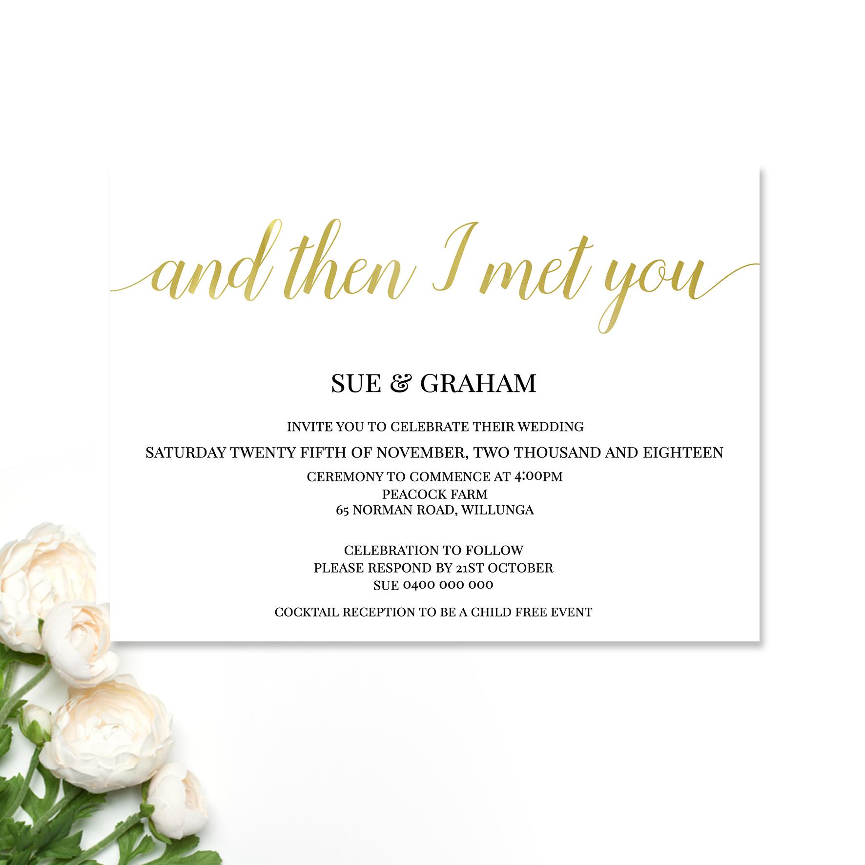 Sue Wedding Invitation