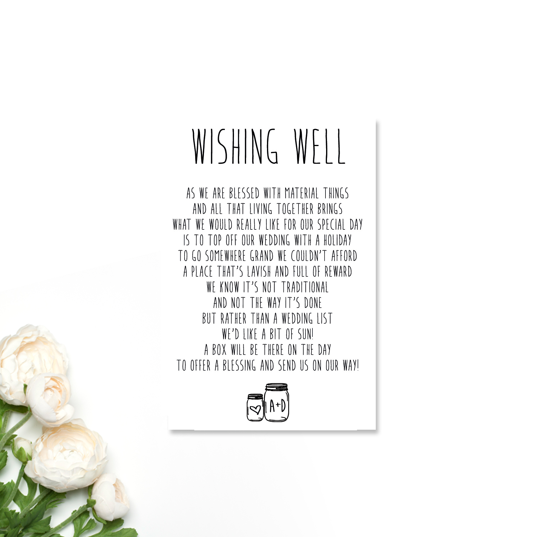 Ashleigh + Darren Wishing Well Card