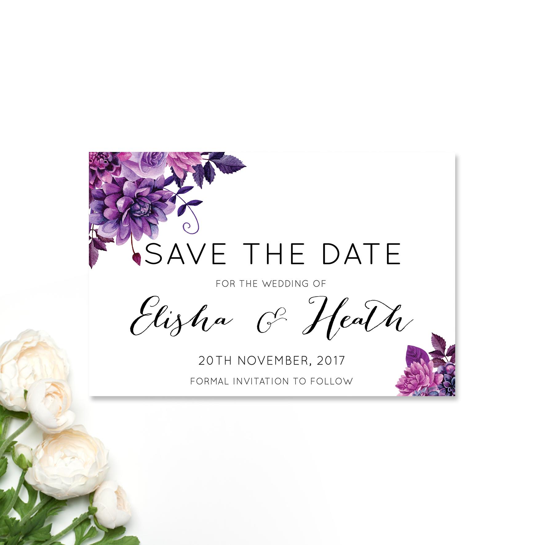 Elisha + Heath Save the Date CArd