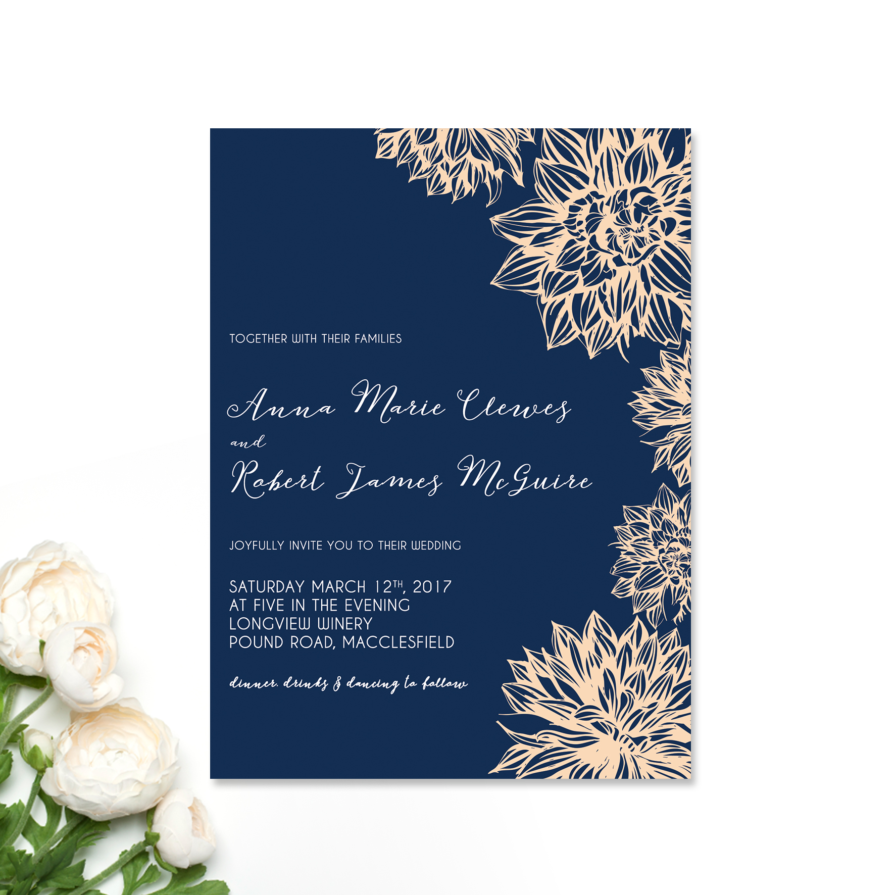 Anna + Robert Wedding Invitation