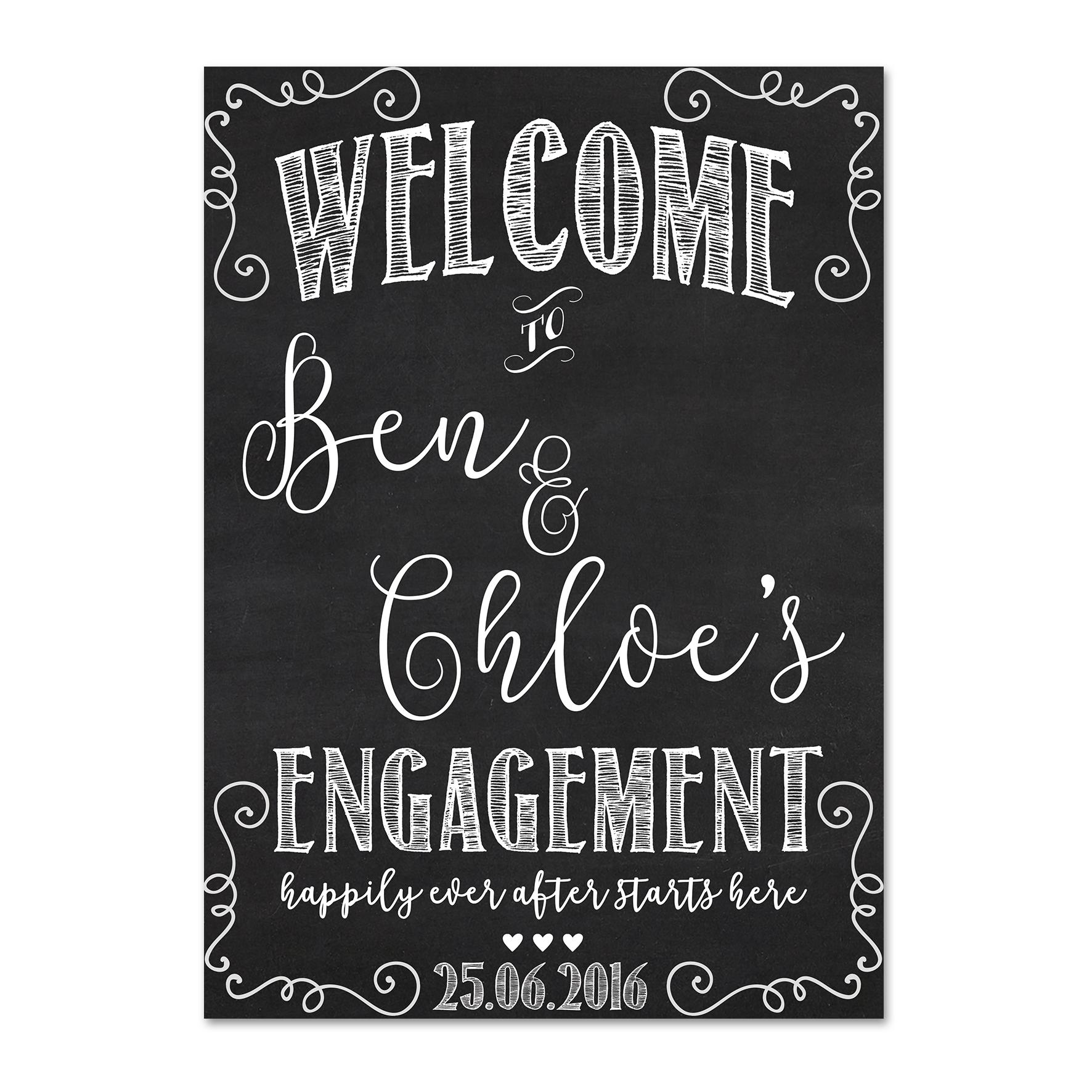 Ben + Chloe Welcome Sign