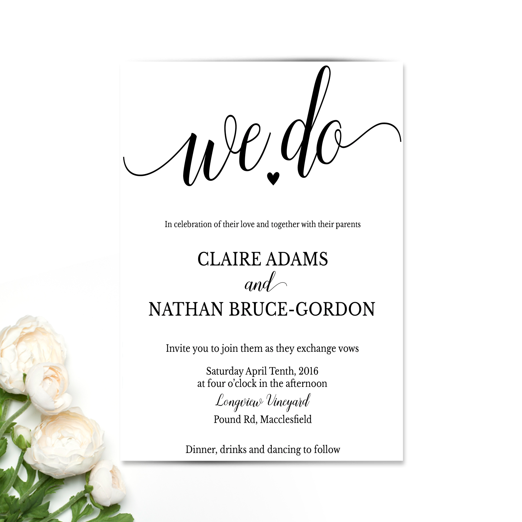 We Do Wedding Invitation