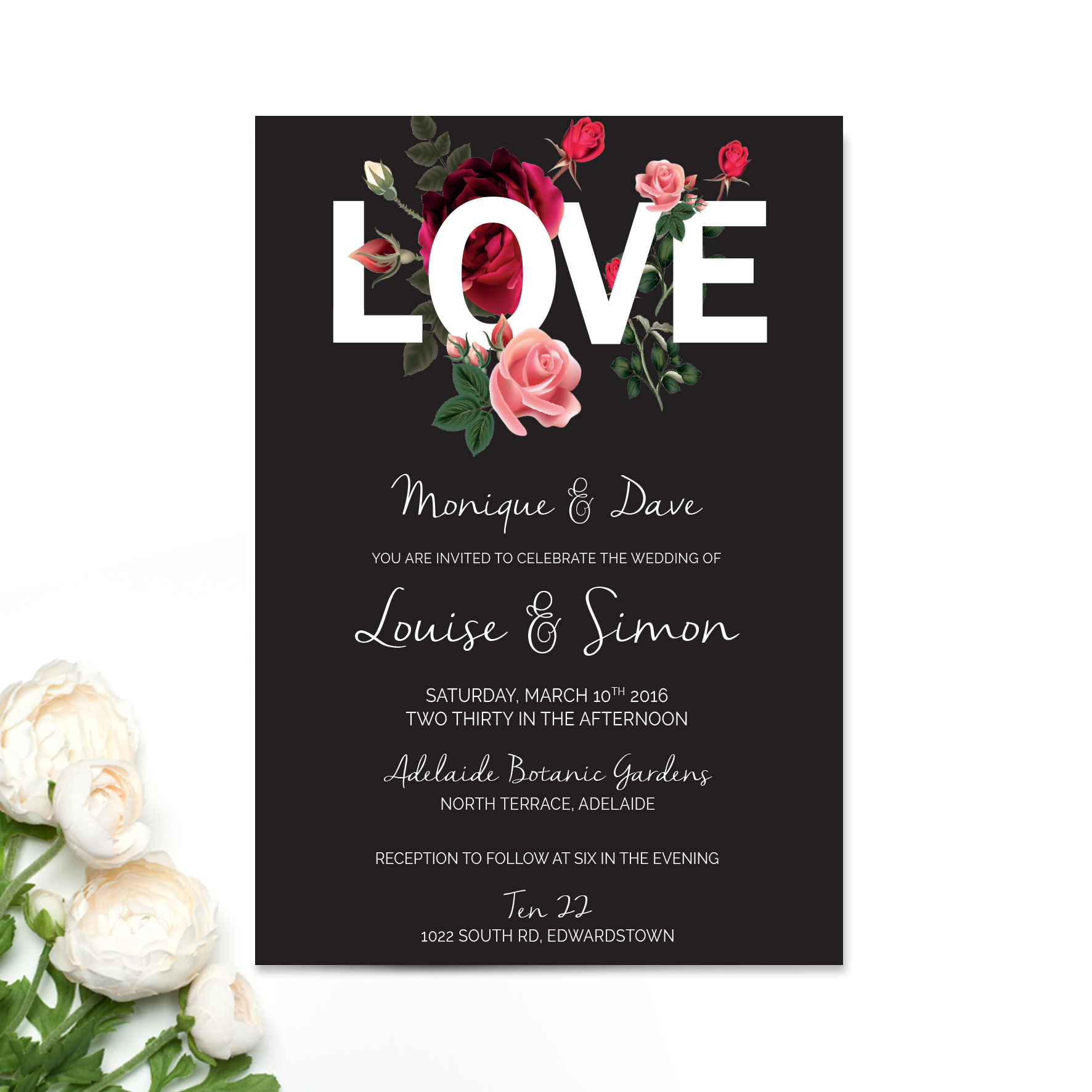 Louise + Simon Wedding Invitation