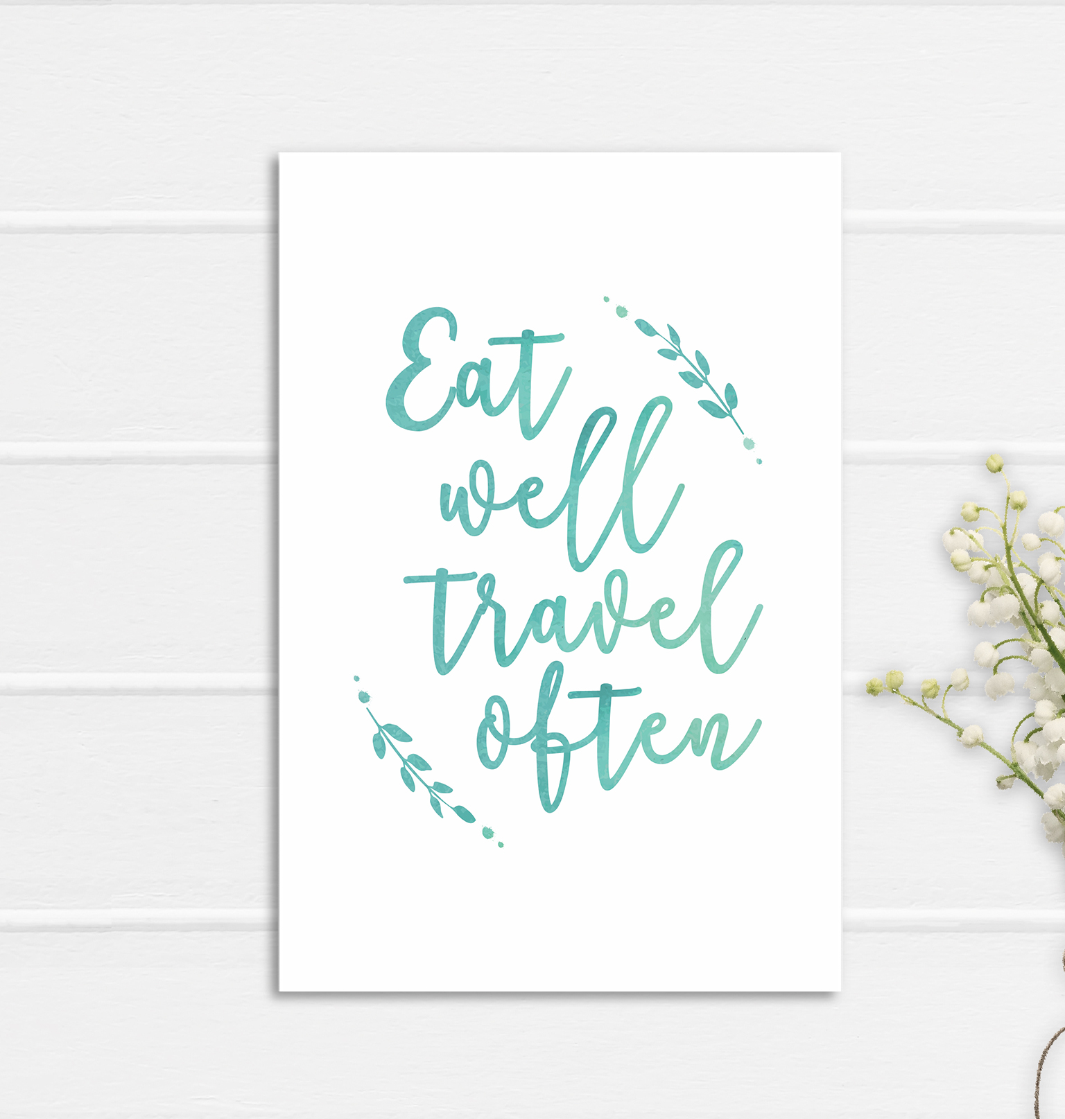 Eat Well Print Poster