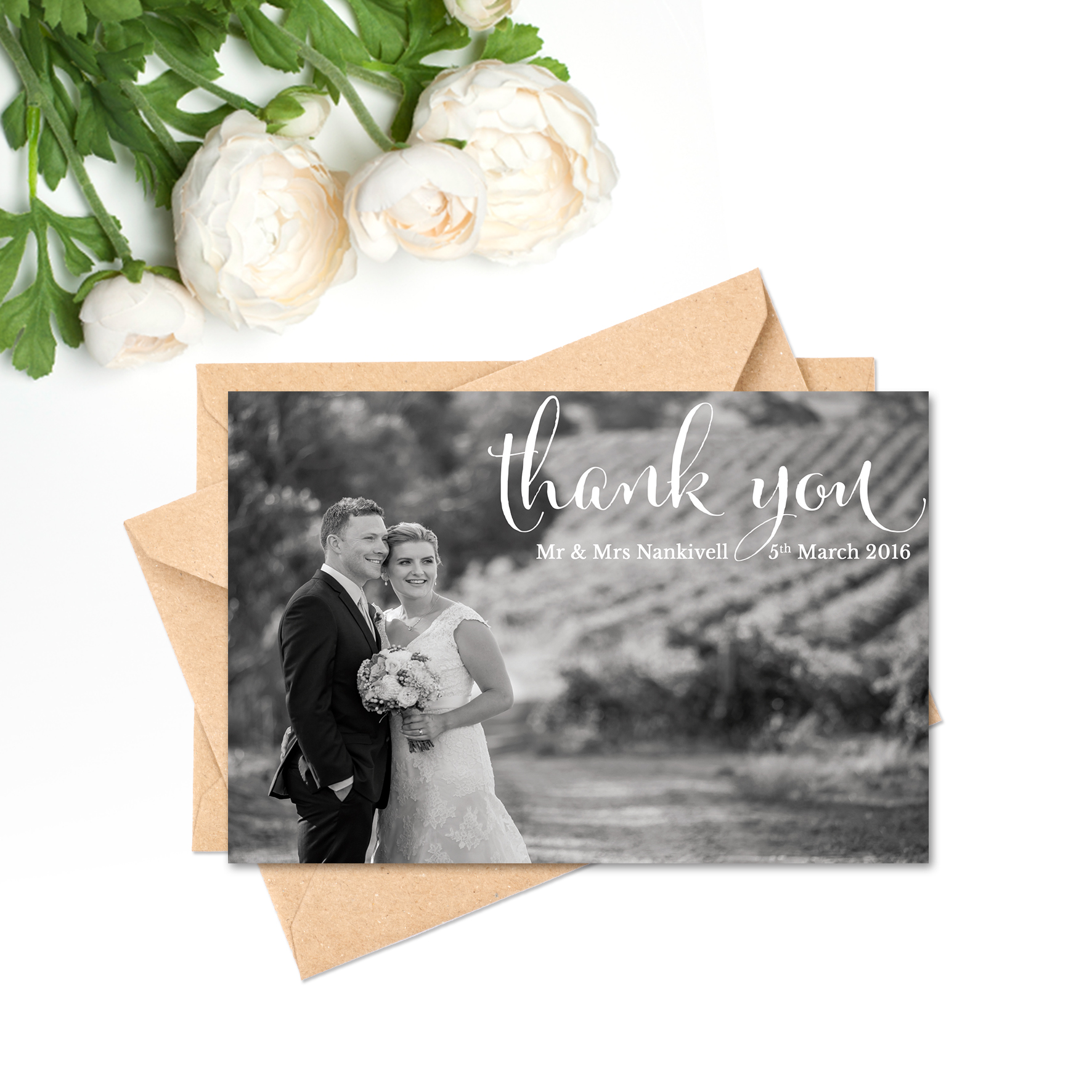Elise + James Thank You Card
