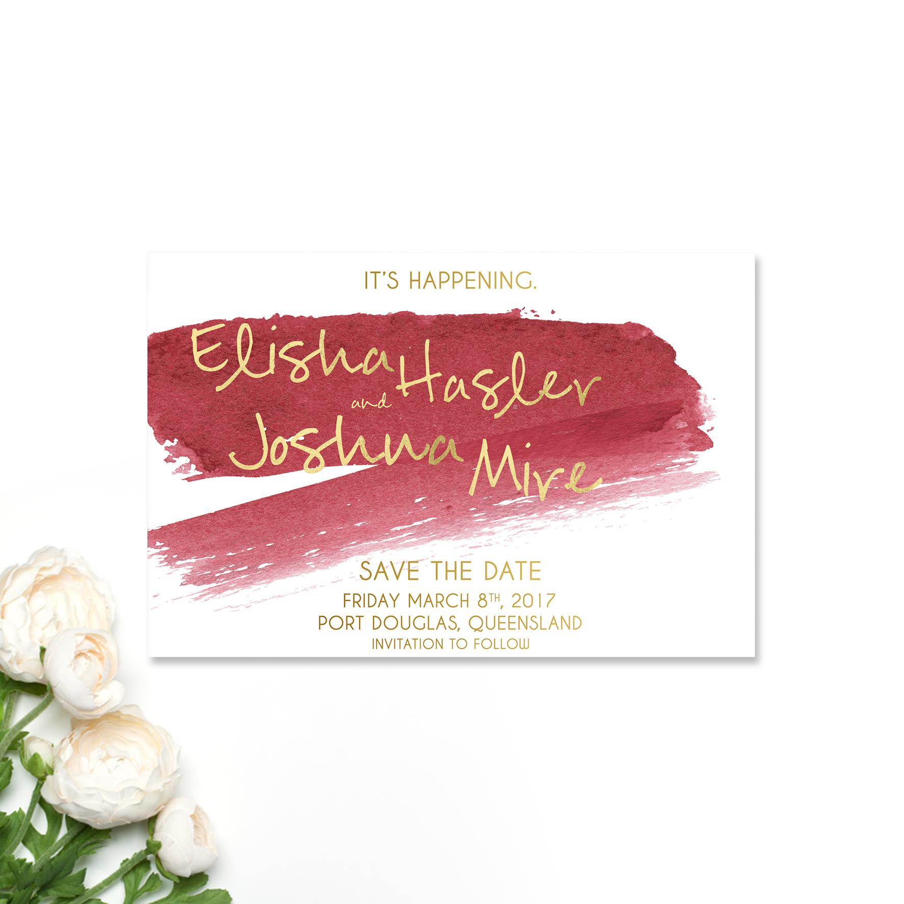 Elisha + Joshua Save the Date Card