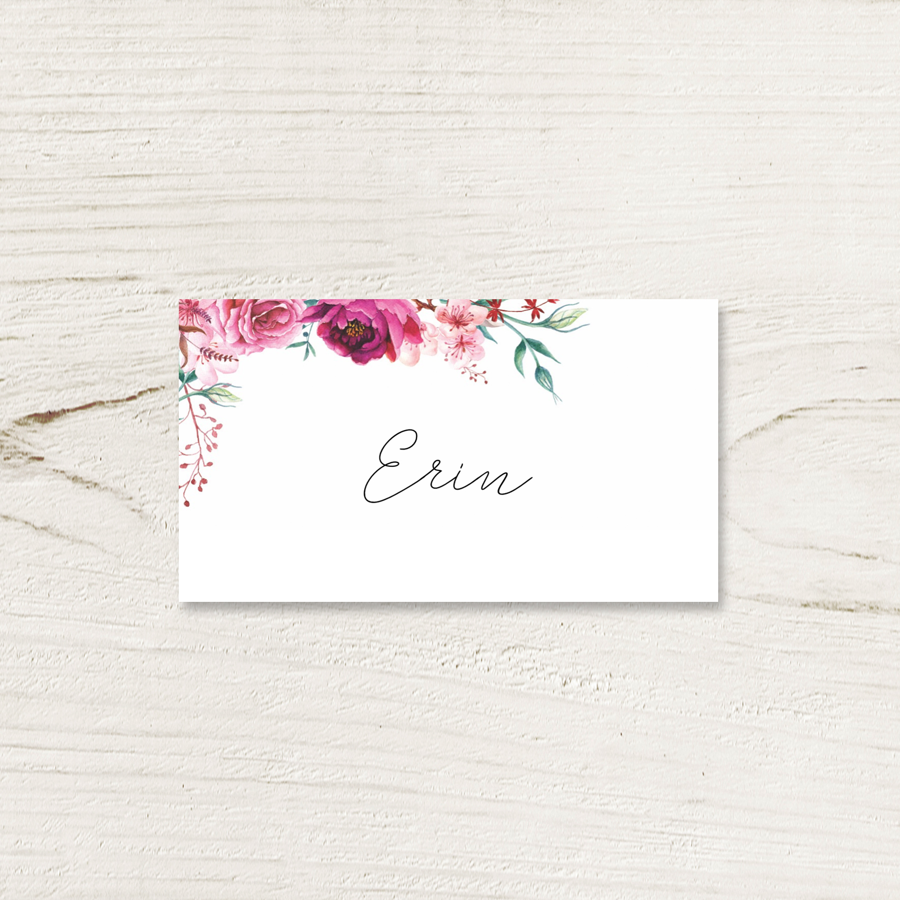 Fuchsia Place Card