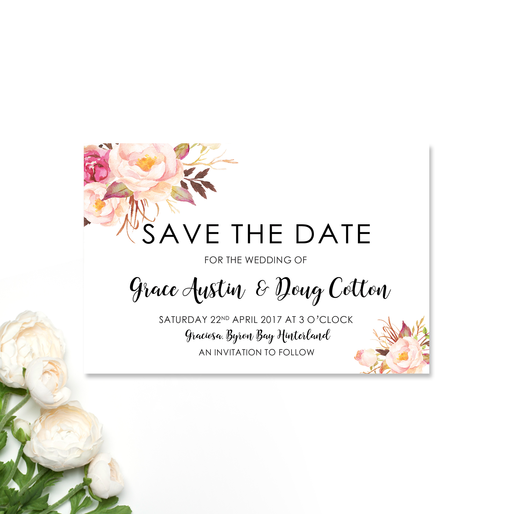 Grace + Doug Save the Date Card