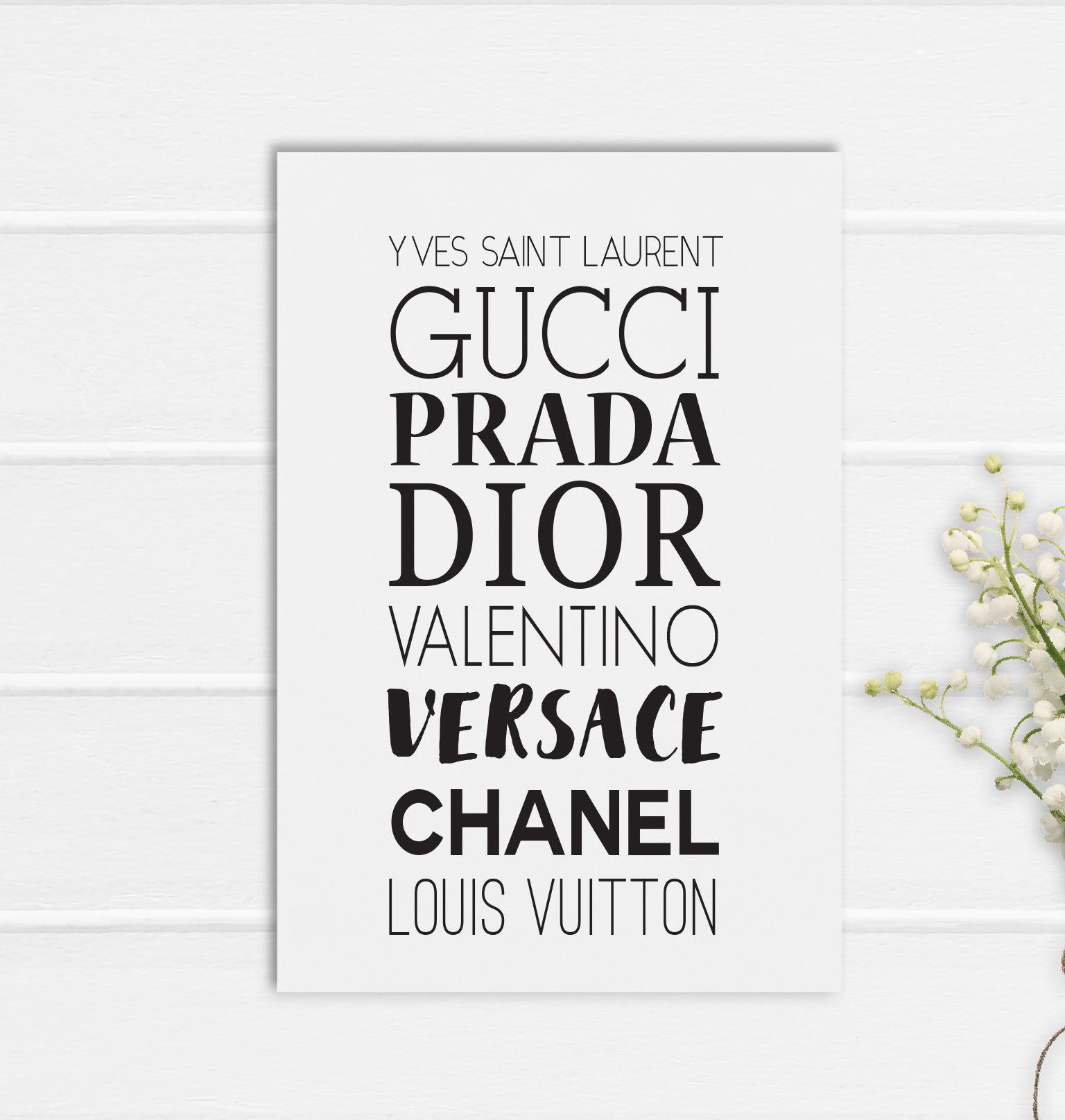 Gucci Print Poster