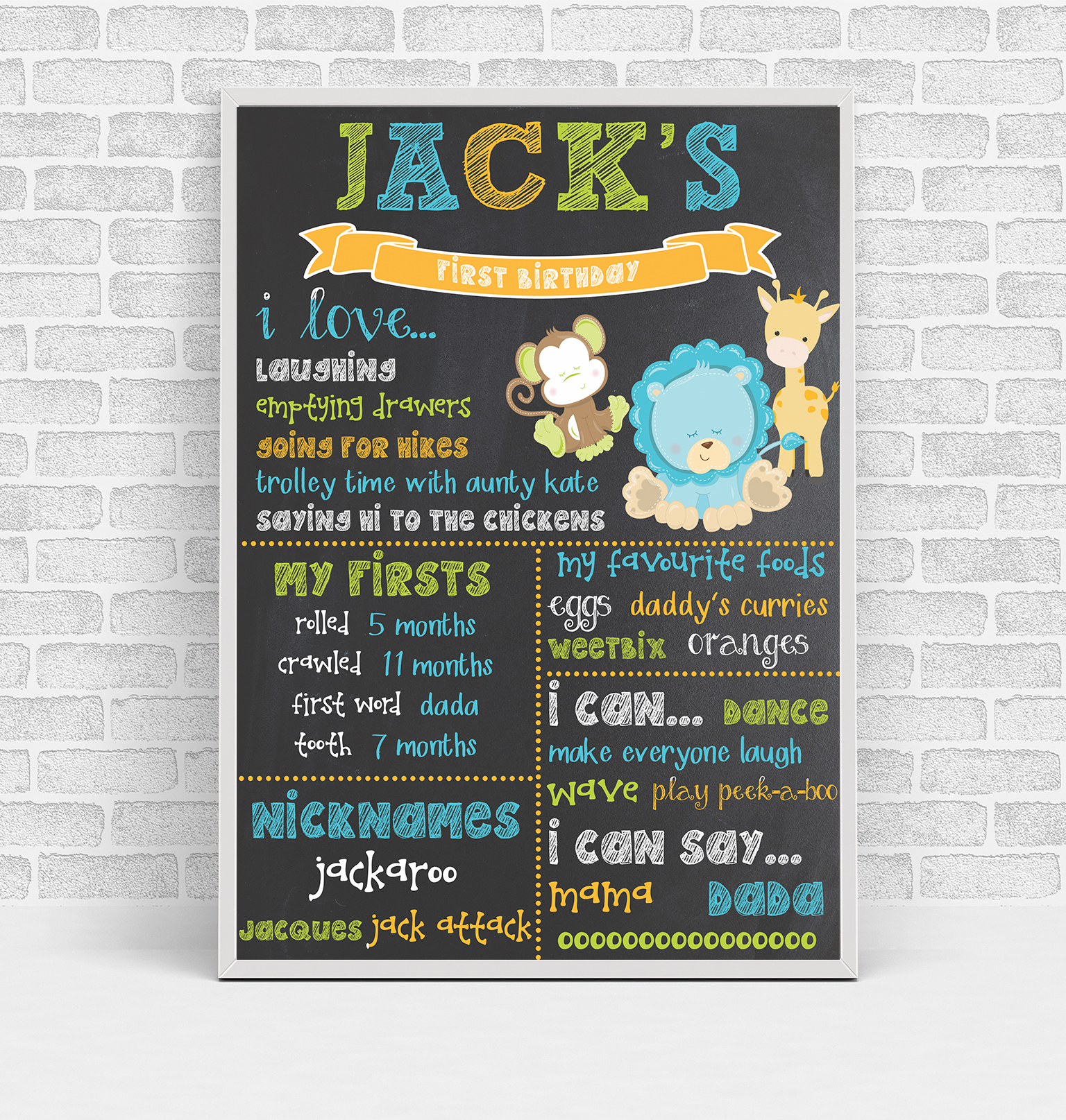 Jack Birthday Board