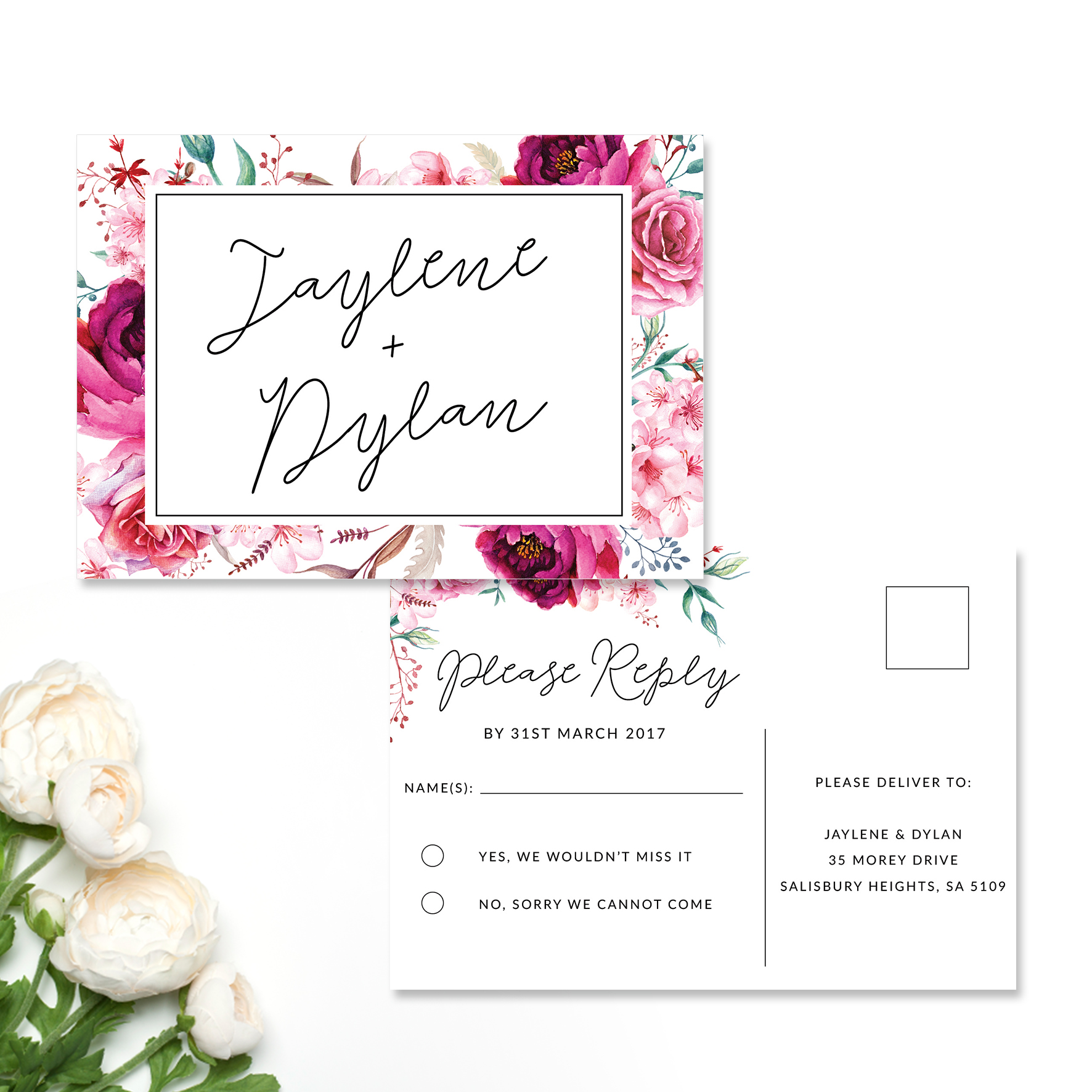 Jaylene + Dylan Reply Card