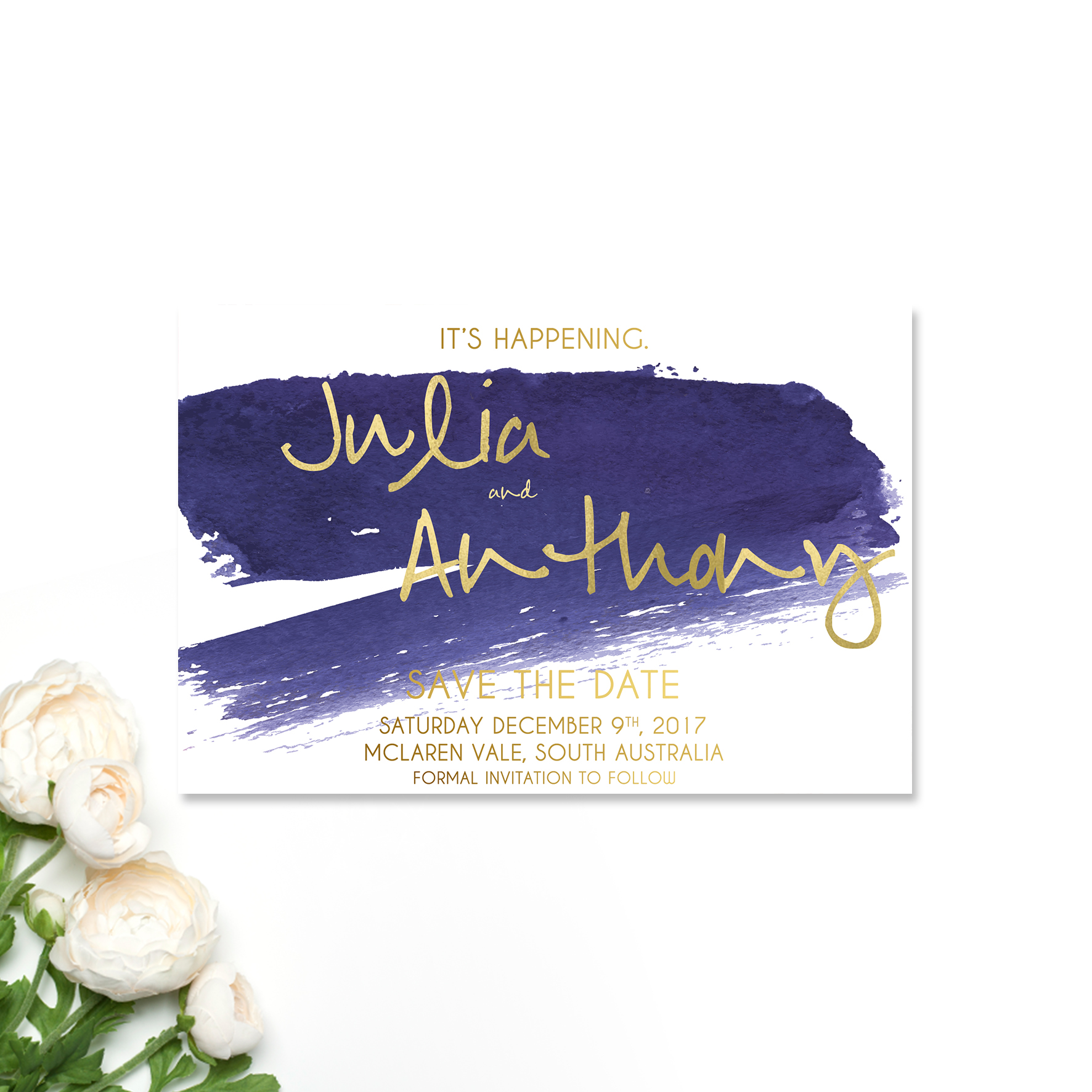 Julia + Anthony Save the Date Card