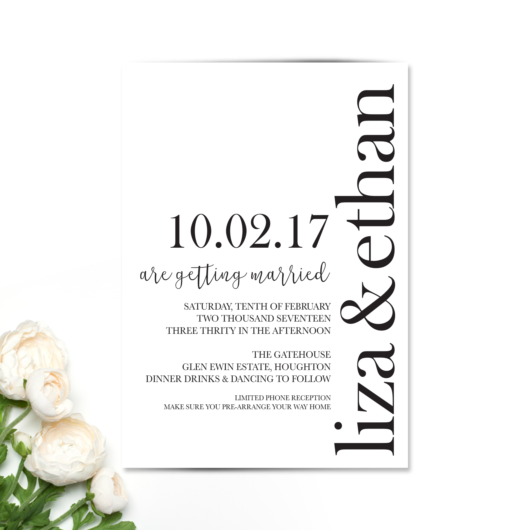 Liza Wedding Invitation