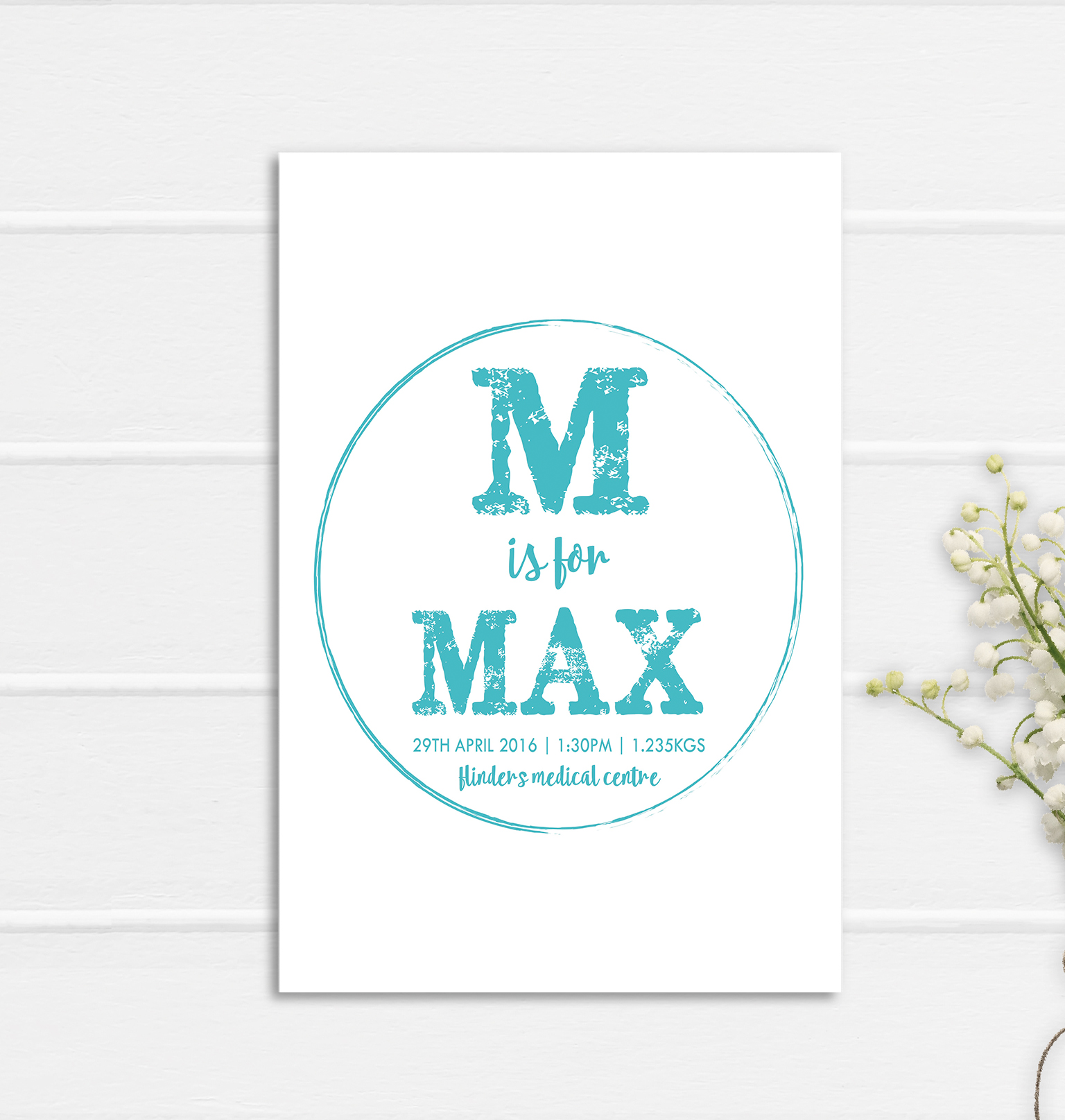 Max - Birth Poster