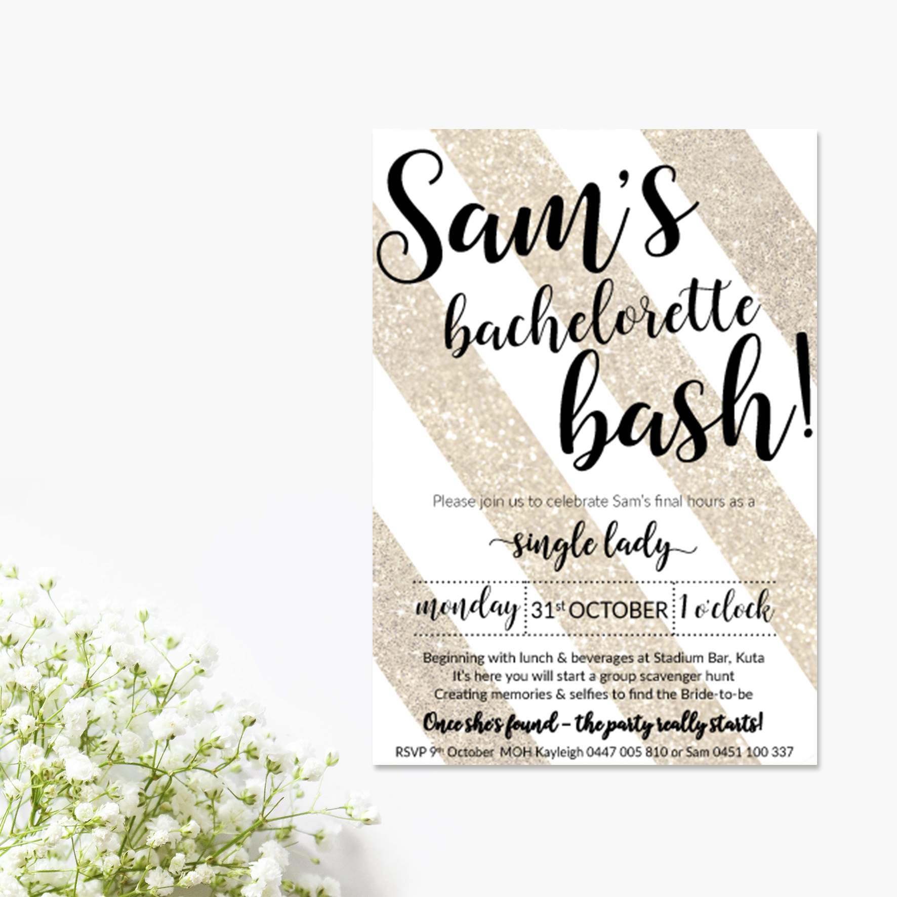 Bachelorette Bash Bridal Shower