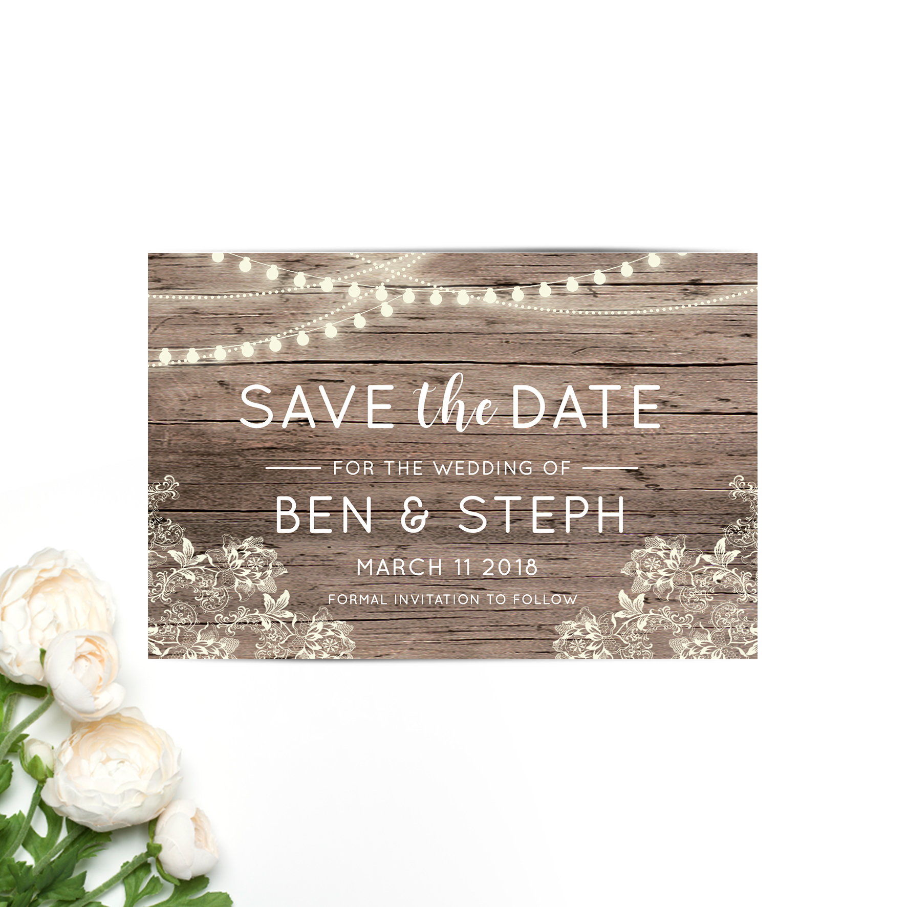 Ben + Steph Save the Date Card
