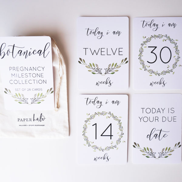 Botanical Pregnancy Milestone Cards