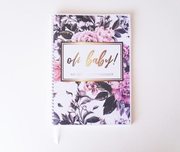 Luxe Rose Pregnancy Planner Cover