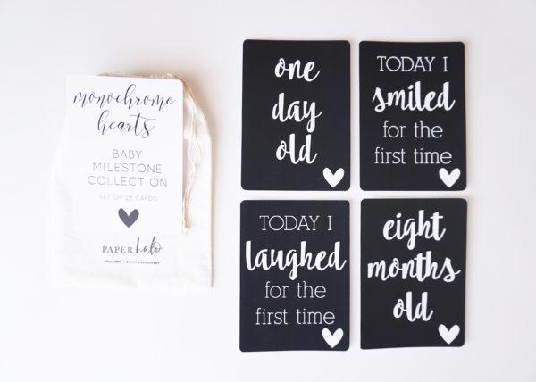 Monochrome Baby Milestone Cards