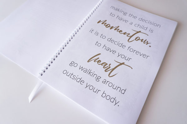Quote Pregnancy Planner Inside