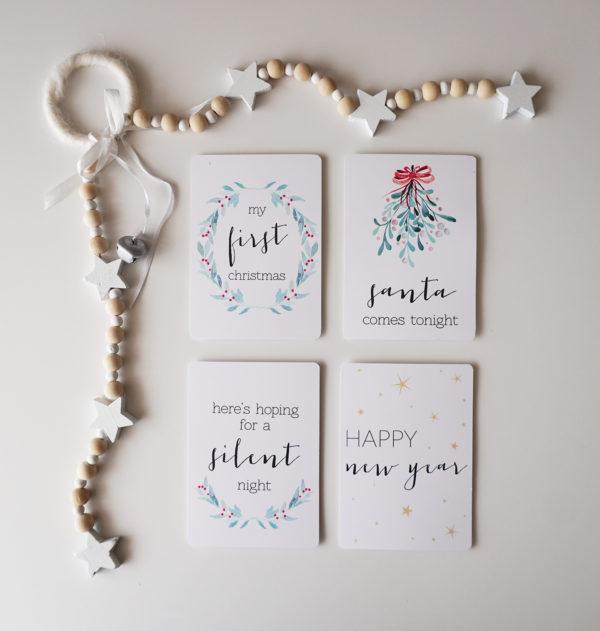Christmas Festive Milestone Cards 2