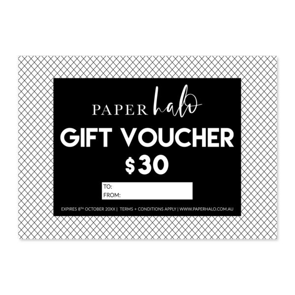 Paper Halo Gift Voucher Card
